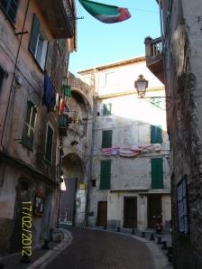 Via Garibaldi - my place is top floor in the sun