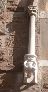 A very strange creature on the catherdral facade.